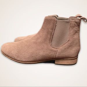 URBAN OUTFITTERS Suede Leather Booties Tan Size 9
